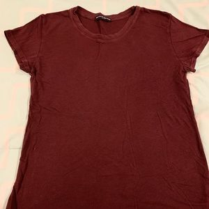Brandy Melville maroon shirt